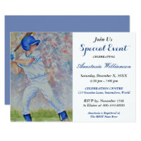 BASEBALL PARTY EVENT INVITE