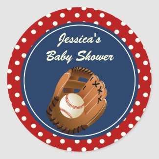 Baseball Party Favor Stickers