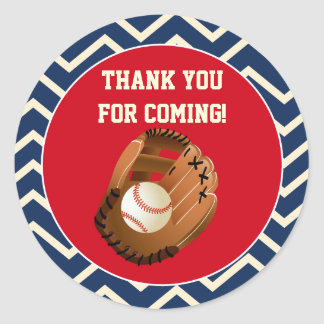 Baseball Party Favor Stickers Tags