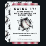 "Baseball Party Invitation<br><div class=""desc"">Baseball-themed invites for any birthday,  team party or sports event.</div>"