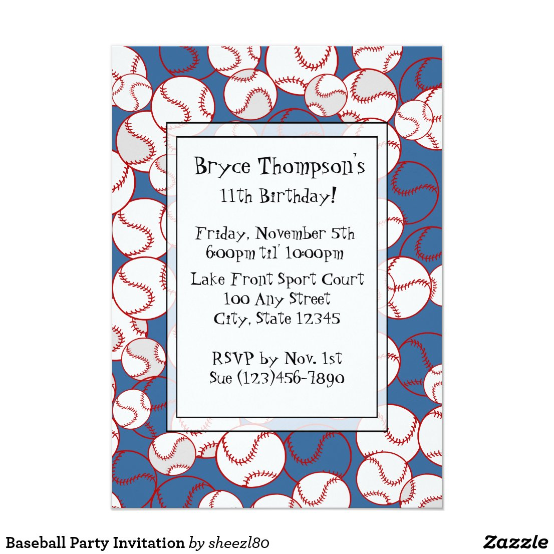 Baseball Party Invitation