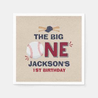 Baseball Party Napkin Baseball 1st Birthday