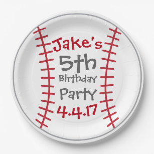 Baseball Party Plates- Birthday Party Decor Paper Plate  sc 1 st  Zazzle & Baseball Decorative Plates | Zazzle