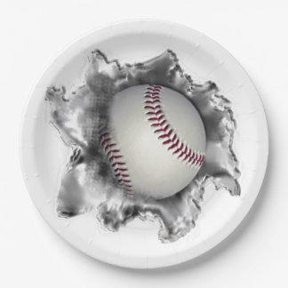 baseball party supplies paper plate