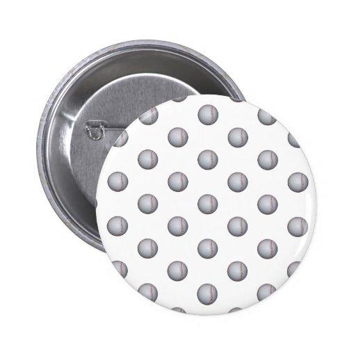 Baseball Pattern Pinback Buttons