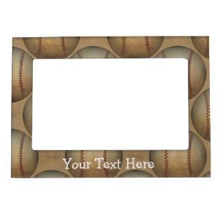 baseball pattern magnetic frame