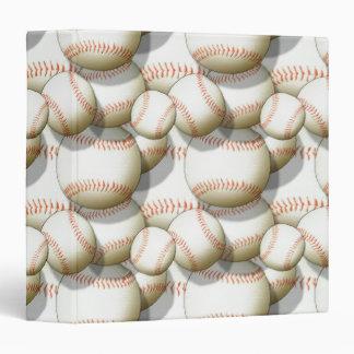 Baseball Pattern Notebook Binder