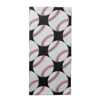 Baseball Pattern on Black or any color Cloth Napkin