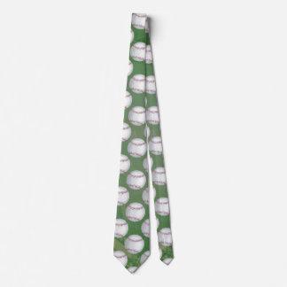 Baseball Pattern on Green Tie