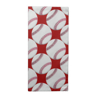Baseball Pattern on Red or any color Cloth Napkin
