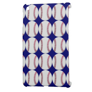 Baseball Pattern with blue background or any color iPad Mini Cover