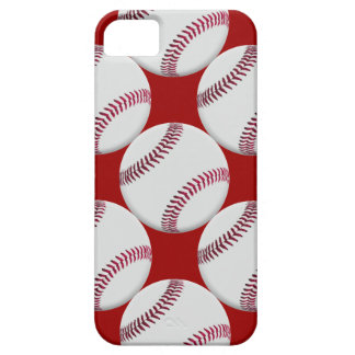 Baseball Pattern with red background iPhone SE/5/5s Case