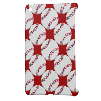 Baseball Pattern with red background or any color iPad Mini Case