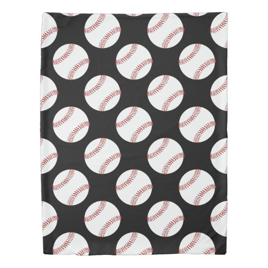 Baseball Patterned Duvet Cover