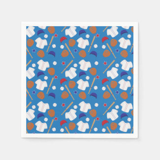 Baseball Patterned Party Paper Napkin