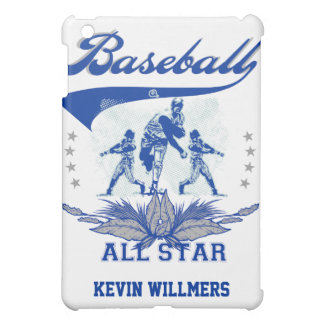Baseball Personalized Blue/Gray  Case For The iPad Mini