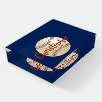 Baseball Personalized Glass Paperweight