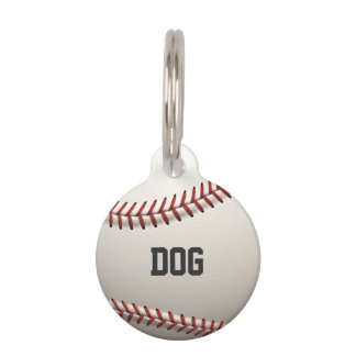 Baseball Pet Name Tag