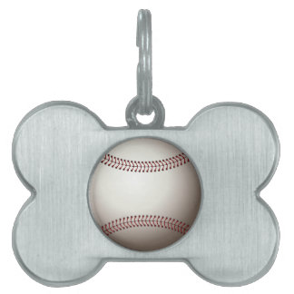 Baseball Pet Tags