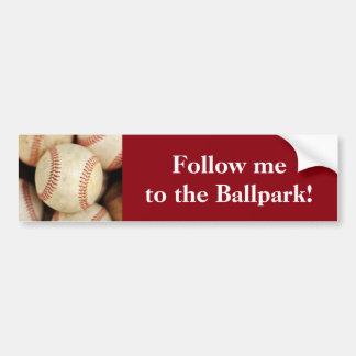 Baseball Photo Car Bumper Sticker