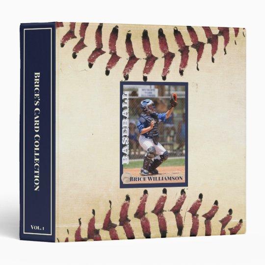 Baseball Photo Card Collector Album 3 Ring Binder