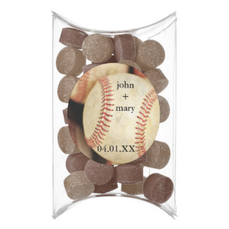 Baseball Photo Chewing Gum Favors