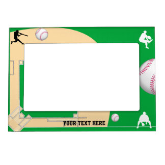 Baseball Photo Frame Magnet