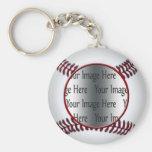 baseball photo key chain