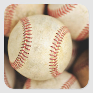 Baseball Photo Square Sticker