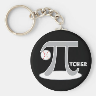Baseball Pi-tcher - Funny Pi Day Gifts Basic Round Button Keychain