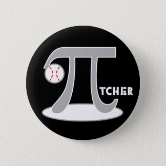 Baseball Pi-tcher - Funny Pi Day Pinback Button