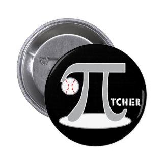 Baseball Pi-tcher - Funny Pi Day Pinback Button