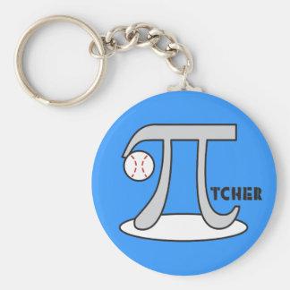 Baseball Pi-tcher - Funny Pi Keychain