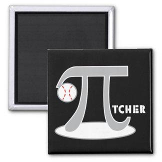 Baseball Pi-tcher - Funny Pi Magnet - Pi Day Gift