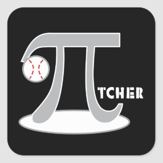 Baseball Pi-tcher - Funny Pi Stickers Gift