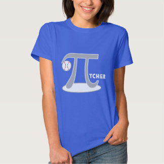 Baseball Pi-tcher TShirts - Funny Pi
