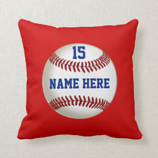 Baseball Pillow with Your COLORS, NAME, NUMBER