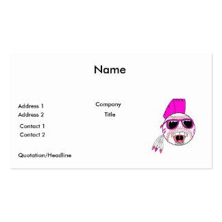 baseball pink girl punk vector design graphic business card