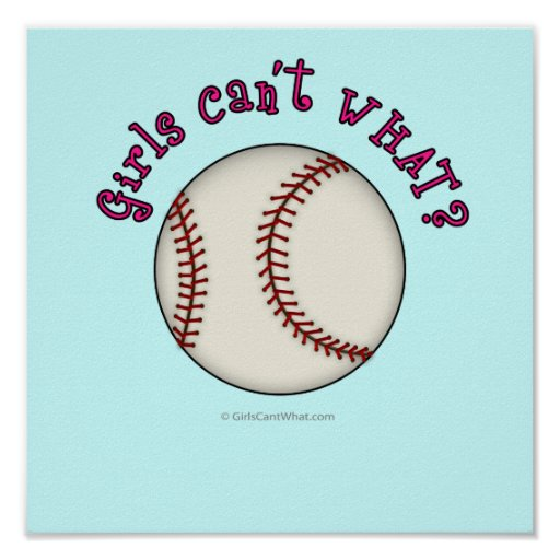 Baseball-Pink Poster