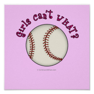 Baseball-Pink Print