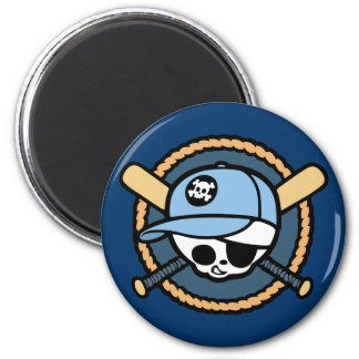Baseball Pirate -Boys 2 Inch Round Magnet