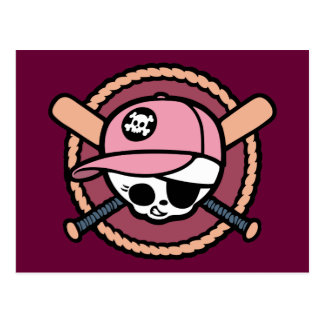 Baseball Pirate -Girls Postcard