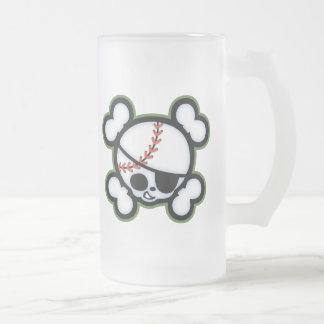 Baseball Pirate -kids Frosted Glass Beer Mug