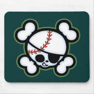 Baseball Pirate -kids Mouse Pad