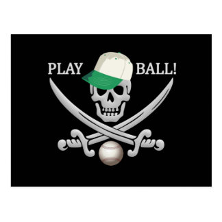 Baseball Pirate postcard
