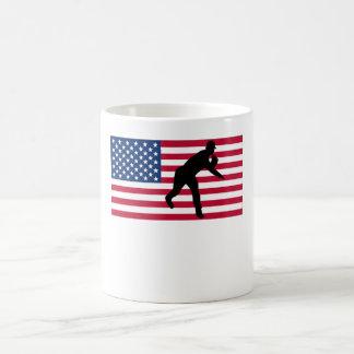 Baseball Pitcher American Flag Coffee Mug