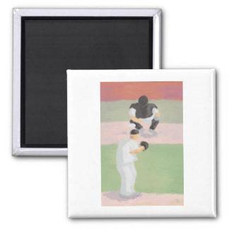 Baseball Pitcher & Catcher, Magnet