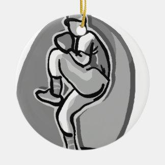 Baseball Pitcher Ceramic Ornament