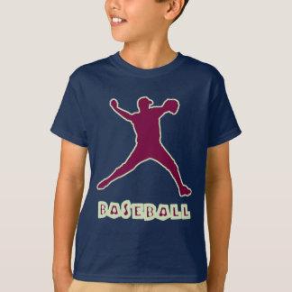 Baseball Pitcher Kids Blue T-Shirt