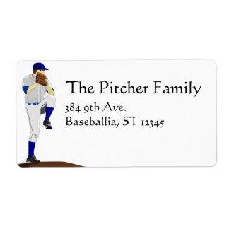 Baseball Pitcher Label